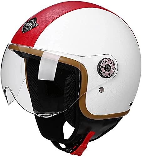 Casco Moto Jet Hombre - Casco Moto Abierto con Doble Visera -...