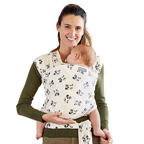 Moby Wrap Baby Carrier | Mickey Mouse | Baby Wrap Carrier for Newborns amp Infants | #1 Baby Wrap | Keeps Baby Safe amp Secure | Adjustable for All Body Types | Disney Baby