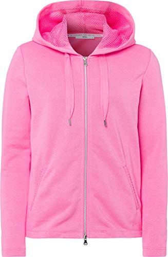 BRAX Damen Style Bette Heavy Jersey Kapuzensweatjacke Kapuzenpullover, PINK, X-Large (Herstellergröße: 42)