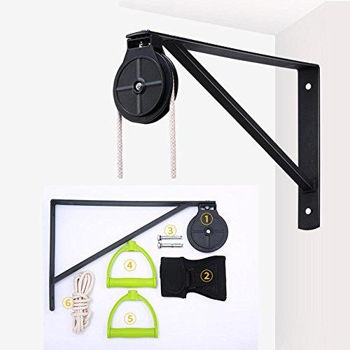 Polea de cuerda montado en la pared,cuerda elástica para rehabilitación de hombro(una polea de plástico)