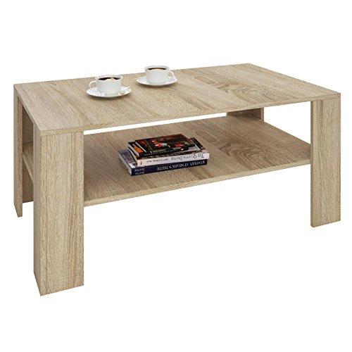 IDIMEX Table Basse Lorient, Table de Salon rectangulaire avec 1 étagère Espace de Rangement Ouvert, en mélaminé décor chêne Sonoma