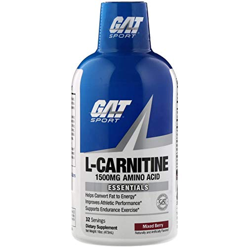 GAT L-Carnitine 1500mg Liquid Blue Raspberry 16 oz, 280 g