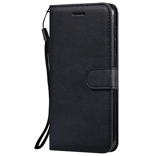 Hülle für Vivo V11/V11 Pro/V11i/Y97 Hülle Handyhülle [Standfunktion] [Kartenfach] Tasche Flip Hülle Cover Etui Schutzhülle lederhülle flip case für Vivo V11 Pro - DEKT051782 Schwarz