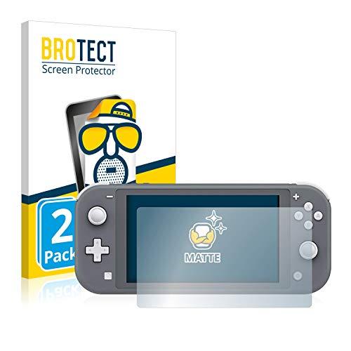 BROTECT 2X Entspiegelungs-Schutzfolie kompatibel mit Nintendo Switch Lite Displayschutz-Folie Matt, Anti-Reflex, Anti-Fingerprint