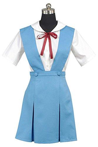 Neon Genesis Evangelion Eva Rei Ayanami Blue&White Dress Anime Cosplay Kostüm Damen XS