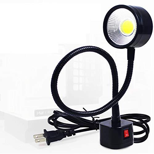 EU Plug 220V Luz de m/áquina de coser L/ámpara de luz de 30 LED con base de montaje magn/ética Interruptor flexible AC 110-250V para el hogar//M/áquina de coser//Estudio//Tornos//Taladros