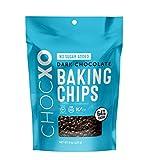 ChocXO No Sugar Added Dark Chocolate Baking Chips | Vegan Friendly, Non GMO, Certified Gluten Free,...
