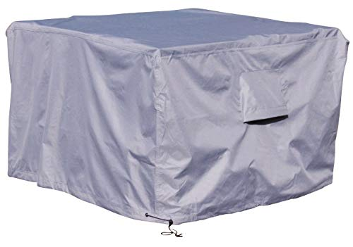 Kingsbridge Rattan Cube Garden Furniture Cover Waterproof-600D Heavy Duty Fabric-Double Stitching-Breathable-UV Protection 135x135x74cm(perfect for 125cm and up sets)