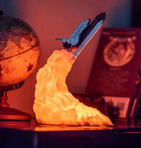 Nachtlicht2019 Neue Space-Shuttle-Lampe Und Mondlampen Im Nachtlicht Durch 3D-Druck Für Weltraumliebhaber Rocket Lamp-Shuttle Twisted Large Size