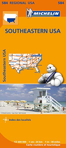 Carte USA Sud-Est Michelin