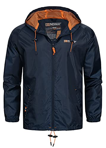Geographical Norway Chaqueta impermeable para hombre (Azul, M)