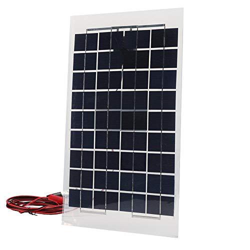 Polykristallijne zonne-starterkit, 18 V, 10 W, polykristallijne chip, zonnepaneel, IP65, waterdichte straling, 1000 W / m2 voor auto-accu's, auto's, stacaravans, schepen, vliegtuigen, ruimtestations,