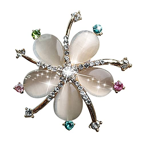 Clip De Perfume De Coche, Flor De Gota De Agua Lindo Y Exquisito Clip De Aromaterapia De Diamantes De Imitación De Cristal Para Decoración De Coche