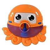 AMZYY Baby Bath Bubble Toys, Automatische Octopus Music Bubble Machine Mit 12 Kinderreimen Bubble Blower Machines Blowing,Orange