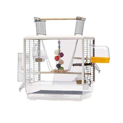 DFBGL Jaulas para pájaros, tamaño pequeño, para pájaros, para Viajes, para Mascotas, para el hogar, con la Parte Superior Abierta, para pájaros, para periquitos, 61 cm de Alto, Jaula par