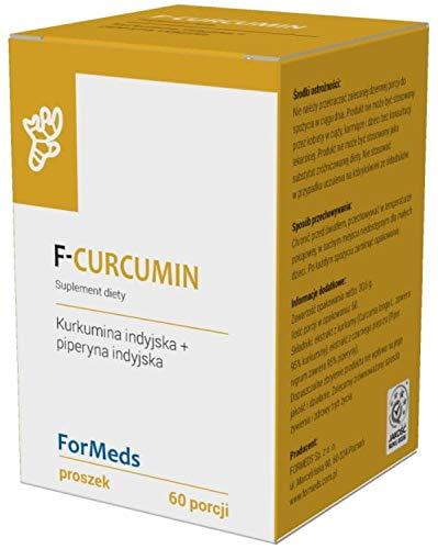 F-Curcumin Indian Curcumin 475mg + Indian Piperine 9,5mg 60 portions 30,6g ForMeds