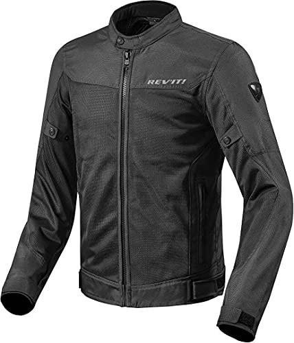 REV'IT! Motorradjacke mit Protektoren Motorrad Jacke Eclipse Textiljacke schwarz XXL, Herren, Tourer, Ganzjährig