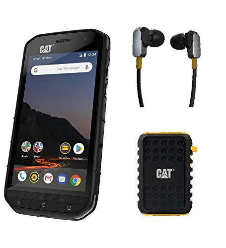 CAT S48C Single SIM Verizon Networks (CDMA) Unlocked Smartphone Bundle with Active Urban 10000mAh Rugged Power Bank, Rugged Earphones and 2 Years Warranty Plus Screen Protection