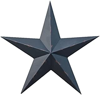 40 Inch Rustic Black Barn Star Made with Galvanized Metal to Prevent Rusting. Amish Hand Made Your Source for Heavy Duty Metal Tin Barn Stars and Primitive Style Stars for Your Country Crafts and Home and Garden Decor. American Handcrafted - Made in the Usa!