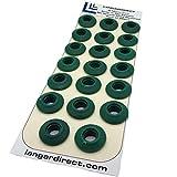 Langard - Occhielli per rubinetto, 12 mm, colore: Verde scuro, confezione da 20 pezzi