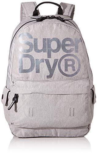 Superdry Herren Logo Montana Rucksack Grau (Grey Marl)