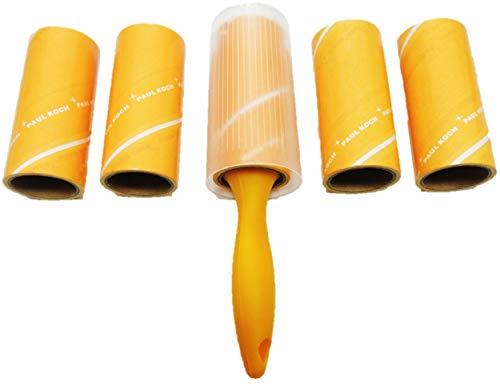 Fusselrolle 1 Stab mit 5 Rollen Insgesamt 150 Blatt Für alle Textilien und Oberflächen