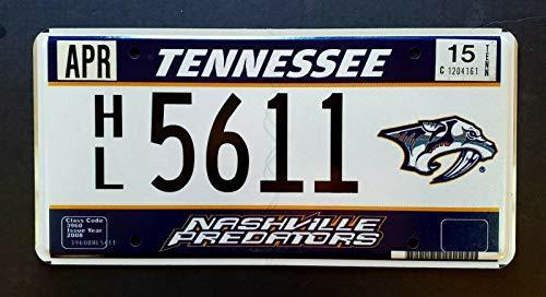 TammieLove Tennessee Nashville Predators NHL Eishockey Sport TN Nummernschild 15,2 x 30,5 cm