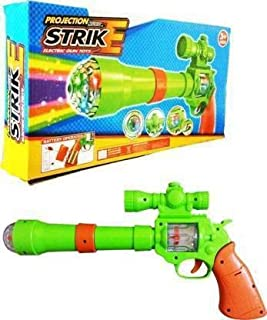 BeautyFly Projection Music Strike Electric Gun Toy (Multicolor)