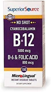 Superior Source No Shot B12 Multivitamins, 5000 mcg, 100 Count
