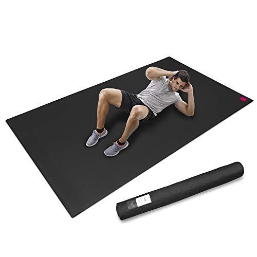 SHANTI NATION - Cardio Mat - große Fitnessmatte - lang und breit (2,5 x 1,5 m) - inkl Aufbewahrungstasche - für intensive Workouts - abriebfest - desinfizierbar - mit Schuhen benutzbar