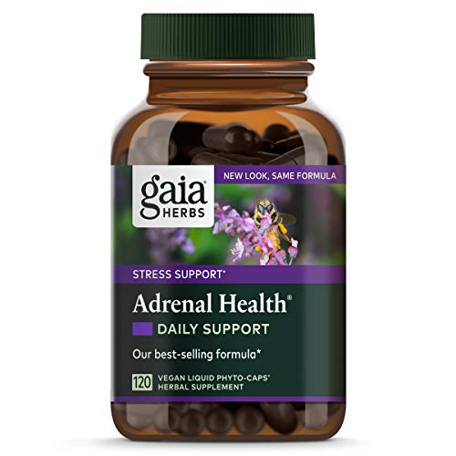 Gaia Herbs Adrenal Health Daily Support, Stress Relief and Adrenal Fatigue Supplement