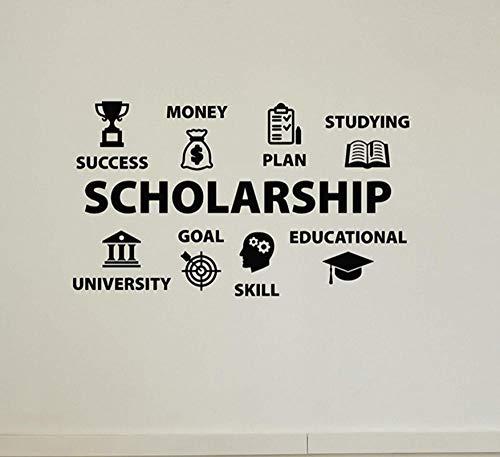 Terilizi stipendium skola universitet utbildning vinyl väggdekal klistermärken dekorativt mönster heminredning konst vägg-43 x 74 cm