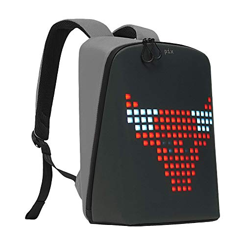 PIX Backpack with Programmable Screen, Grey, Large