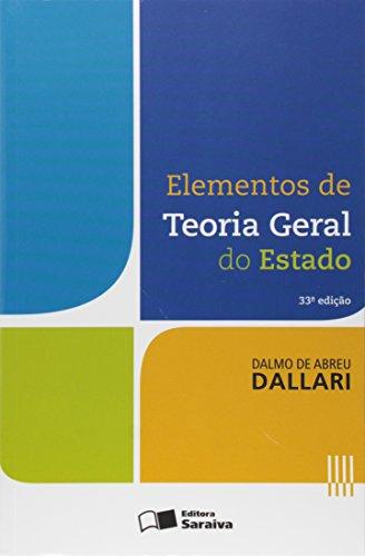 Elementos de teoria geral do estado - 33ª edição de 2015