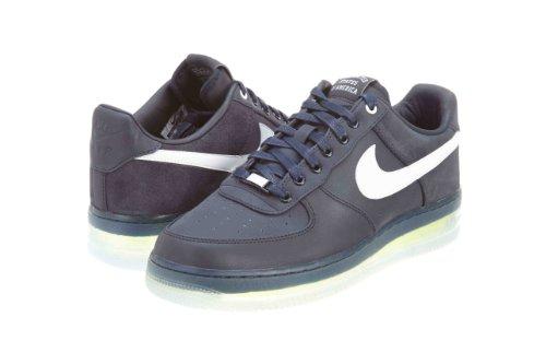 Nike Mens Air Force 1 Low Max Air Nrg Olympiade Dark Obsisian/weiÃ? Suede Sportlich Turnsch