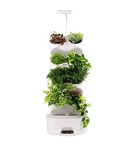 Hydropononic - Caja de 8 macetas para huerto o jardín, cultivo interior (no aviardos) con luz LED y bomba