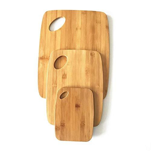 FDSJKD Juego de la Tabla de Cortar de bambú de 3 Piezas
