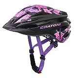 Cratoni Pacer Fahrradhelm MTB Allroundhelm (Black pink, XS-S (49-55 cm))