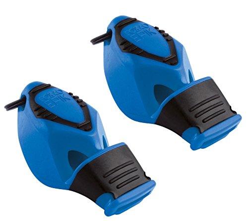 Fox 40 Epik - Silbato de seguridad con cordón, color azul (2 unidades)