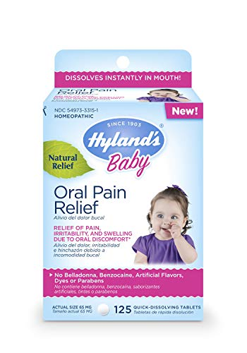 Hyland's Baby Oral Pain Relief Tablets with Chamomilla, Soothing Natural Relief of Oral Discomfort,...