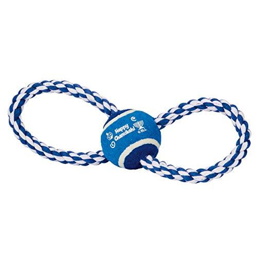 Rite Lite Chanukah Rope Chewdaica Dog Toy, 10.00x2.50x4.50, Blue/White Hanukkah