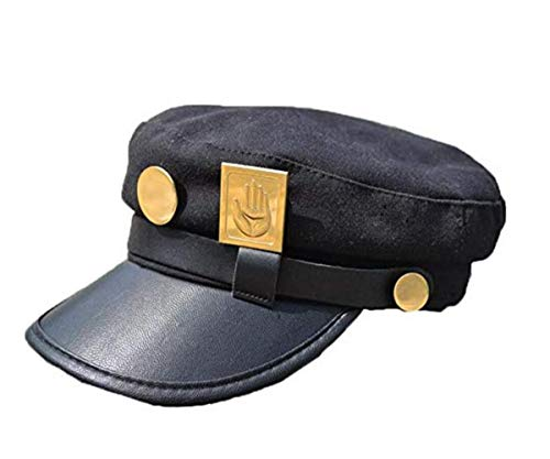 Blackcos Teens Jotaro Cosplay Visored Baseball Cap Hat Props Black, Large