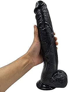 Lifelike 12 inch Penî's Black Huge Wand Soft and Safe Women Adult Toy