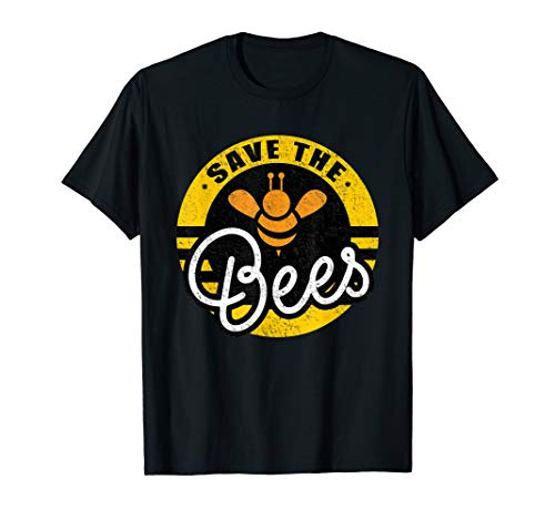 Save The Bees Imker Earth Day Motto Biene Rettet die Bienen T-Shirt