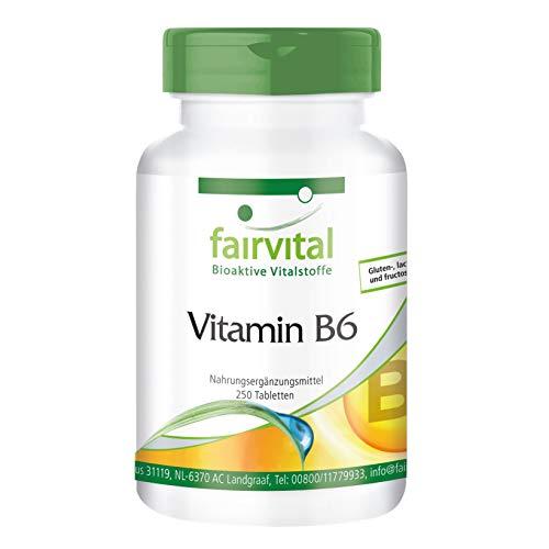 Vitamina B6 Piridoxina 22,5mg - VEGANA - 250 Comprimidos - Calidad Alemana