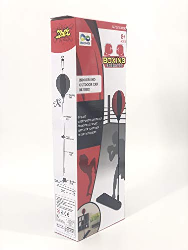 JOYSAE Standing Boxing Set with Punching Ball and Gloves for Kids