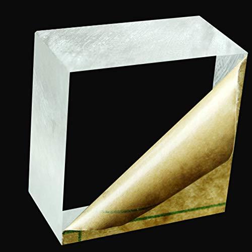 Fly-Fiber Plexiglass Trasparente Foglio di plastica Trasparente Acrilico Consiglio Organic Vetro polimetilmetacrilato, 10mm di Spessore,Size: 100x200mm
