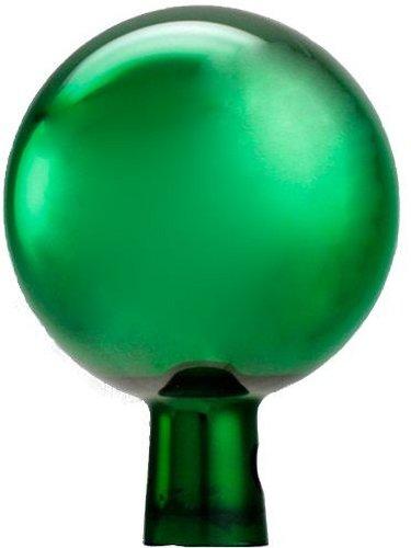 Original Rosenkugel 18 cm grün verspiegelt