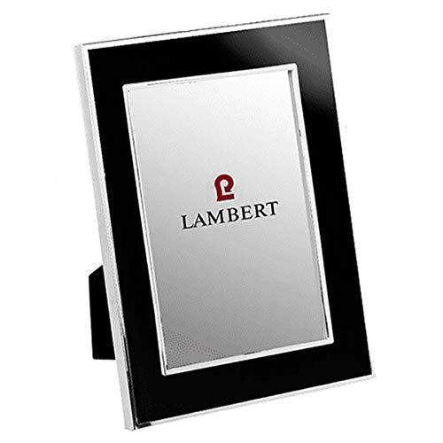 Lambert - Portland - Bilderrahmen, Fotorahmen, Rahmen - Schwarz - Emaille - Versilbert - Maße Foto (BxH): 13 x 18 cm - 1 Stück