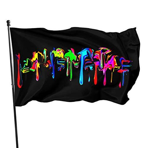 Yuanmeiju Farbe Regenbogen Graffiti Splash lebendige Farbe Flagge Party Dekoration Banner für Outdoor und Indoor 3X5 Ft